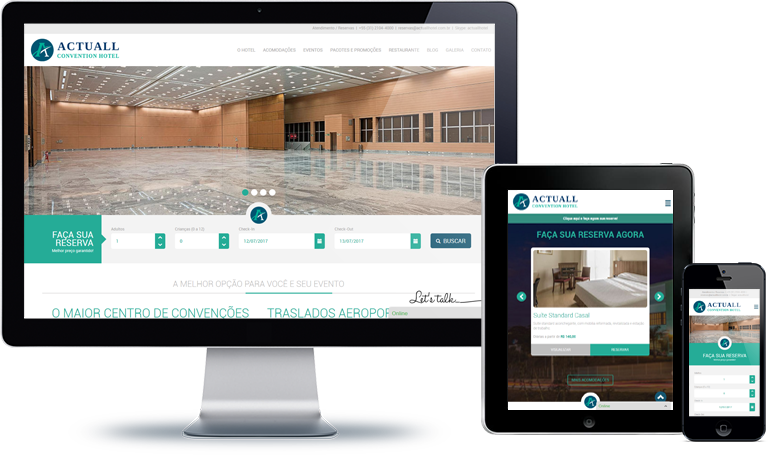Novo Site Actuall Convention Hotel | Websites / E-commerce